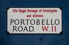 De plaque van de Portobello` s weg stock foto