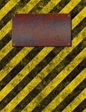 De plaque van waarschuwingsseinstrepen Royalty-vrije Stock Afbeelding