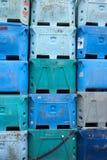 De plastic Kratten van de Opslag Stock Afbeeldingen