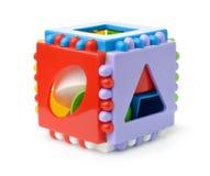 De plastic kubus van de vormsorteerder royalty-vrije stock afbeeldingen