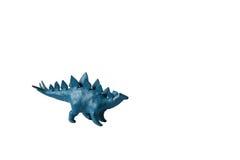 De plasticinedinosaurus isoleerde witte achtergrond Royalty-vrije Stock Afbeeldingen