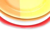 De platen van de kleur Stock Foto's