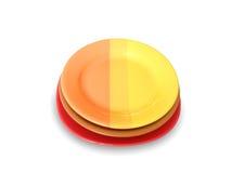 De platen van de kleur Royalty-vrije Stock Foto's