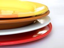 De platen van de kleur Royalty-vrije Stock Afbeelding