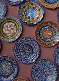 De Platen van het porselein Stock Afbeeldingen