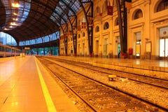 De platforms van het spoor en van de post Royalty-vrije Stock Afbeeldingen