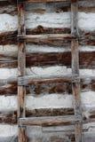 De plattelander doorstond primitieve houten ladder Royalty-vrije Stock Foto