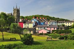 De plattelandshuisjes van Aberareon, Wales Royalty-vrije Stock Foto's