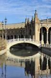 Plazaen de Espana (Spanien kvadrerar), Seville, Spanien arkivfoton