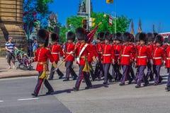 De plechtige Parade van de Wacht Royalty-vrije Stock Afbeeldingen