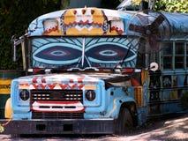 De Ploeg van de Bus van de kleur Royalty-vrije Stock Foto