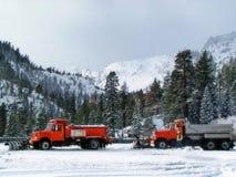 De ploegen van de sneeuw royalty-vrije stock afbeelding