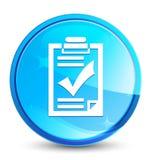 De plons natuurlijke blauwe ronde knoop van het controlelijstpictogram royalty-vrije illustratie