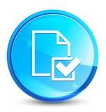 De plons natuurlijke blauwe ronde knoop van het controlelijstpictogram vector illustratie