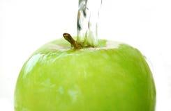 De plons van de appel Stock Fotografie