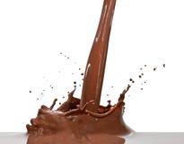 De plons van de chocolade Stock Foto