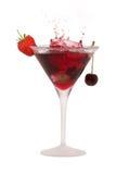 De plons van de cocktail Stock Afbeeldingen