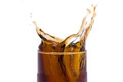 De plons van de soda Stock Foto