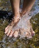 De plons van de voet Stock Afbeelding