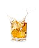 De plons van de whisky Stock Fotografie