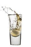De plons van de whisky Stock Foto's
