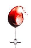 De plons van de wijn Stock Afbeeldingen