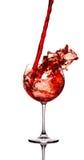 De plons van de wijn Stock Foto