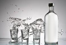 De plons van de wodka royalty-vrije stock foto