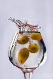 De plons van druiven Stock Foto