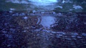 De Plons van de Fonteinstromen van de waterpool stock footage