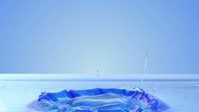 De plons van het close-upwater 3d langzame motie royalty-vrije illustratie