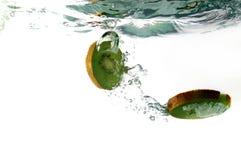 De plons van het fruit Stock Foto's