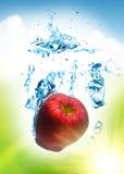 De plons van het fruit royalty-vrije stock afbeeldingen