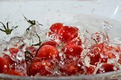De plons van het fruitwater Stock Foto