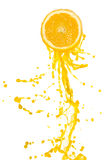 De plons van het jus d'orange Royalty-vrije Stock Foto's