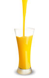 De plons van het jus d'orange. Stock Illustratie