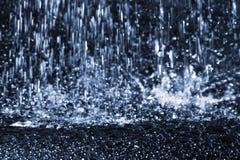 De plons van het water Stock Afbeeldingen