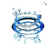 De plons van het water stock foto's