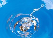 De plons van het water Stock Fotografie
