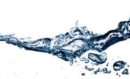 De plons van het water die op wit wordt geïsoleerd Stock Afbeelding