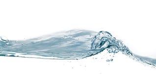 De plons van het water die op wit wordt geïsoleerdd Sluit omhoog van plons van watervorm Royalty-vrije Stock Foto