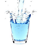 De plons van het water in glas Royalty-vrije Stock Afbeelding