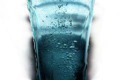 De plons van het water in glas Royalty-vrije Stock Foto