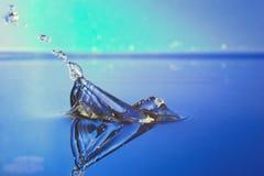 De plons van het water met bootsamenvatting Royalty-vrije Stock Fotografie