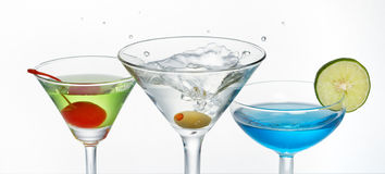 De plons van martini royalty-vrije stock foto's