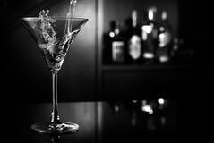 De plons van martini Stock Foto's