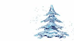 De plonsboom van het Kerstmiswater die op wit wordt geïsoleerd Royalty-vrije Stock Foto