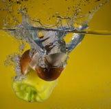 De plonsen van het water royalty-vrije stock fotografie
