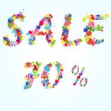 De plonsillustratie van de verkoopaffiche Royalty-vrije Stock Foto