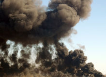 De pluim van de rook Stock Afbeeldingen